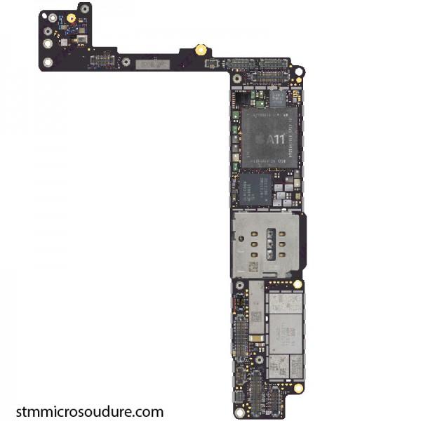 Réparation oxydation carte mère iPhone 8 plus