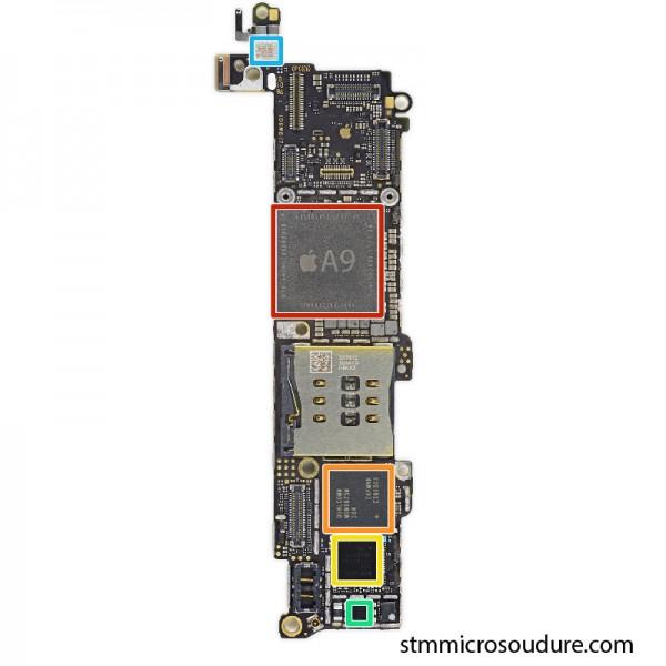 Réparation chauffe importante carte mère iPhone SE