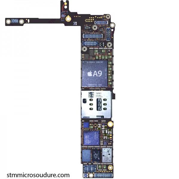 Réparation chauffe importante carte mère iPhone 6s plus