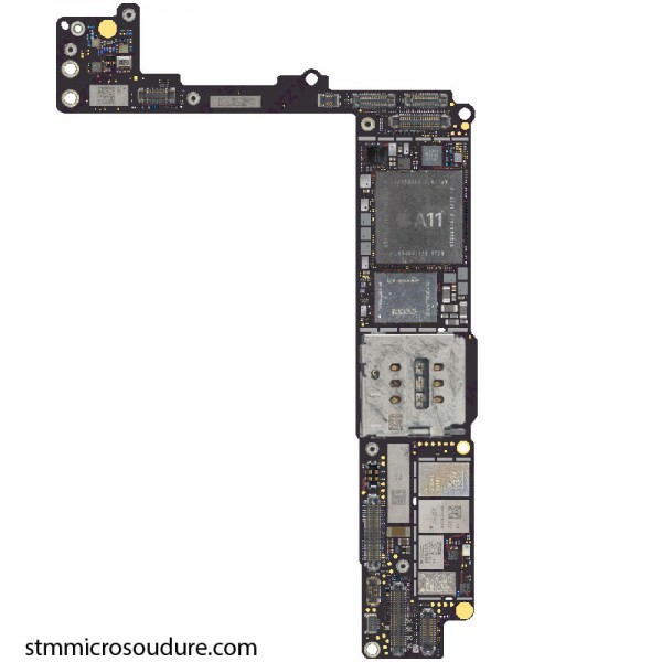 Réparation chauffe importante carte mère iPhone 8